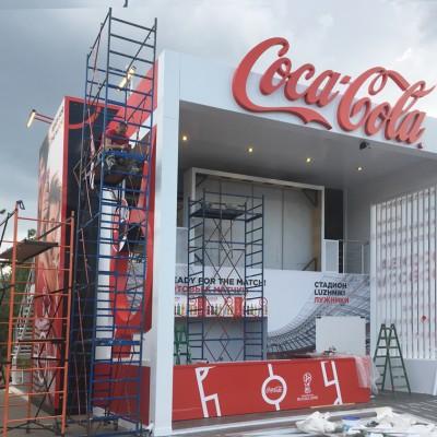 Стенд Coca-Cola в г. Калининград