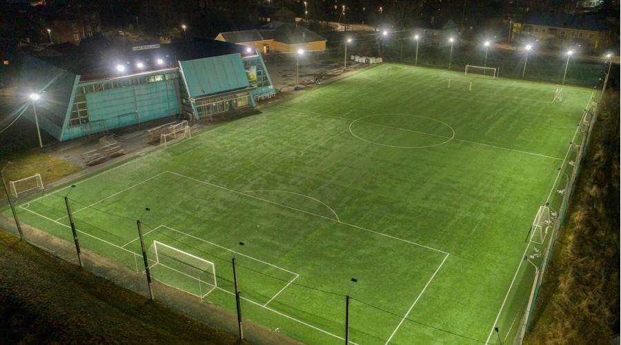 Футбольное поле в городе Гатчина