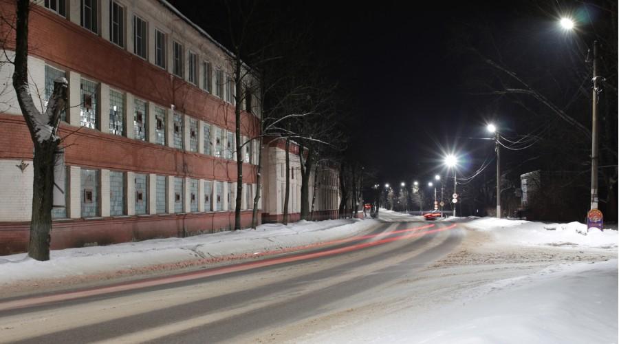 Уличное освещение в г. Луга