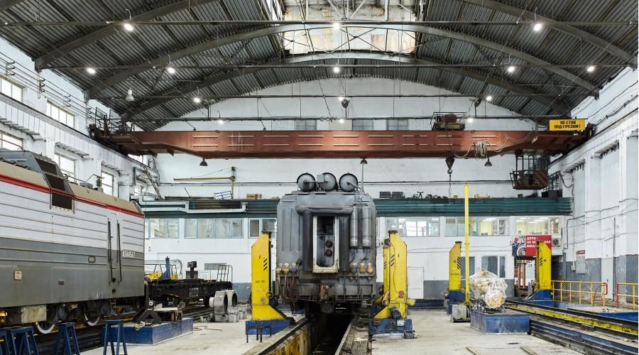Освещение локомотивного ремонтного депо