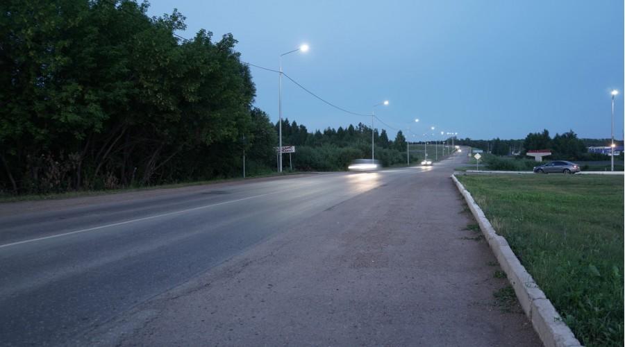 Освещение Трассы 80Н-002 в г. Белебей