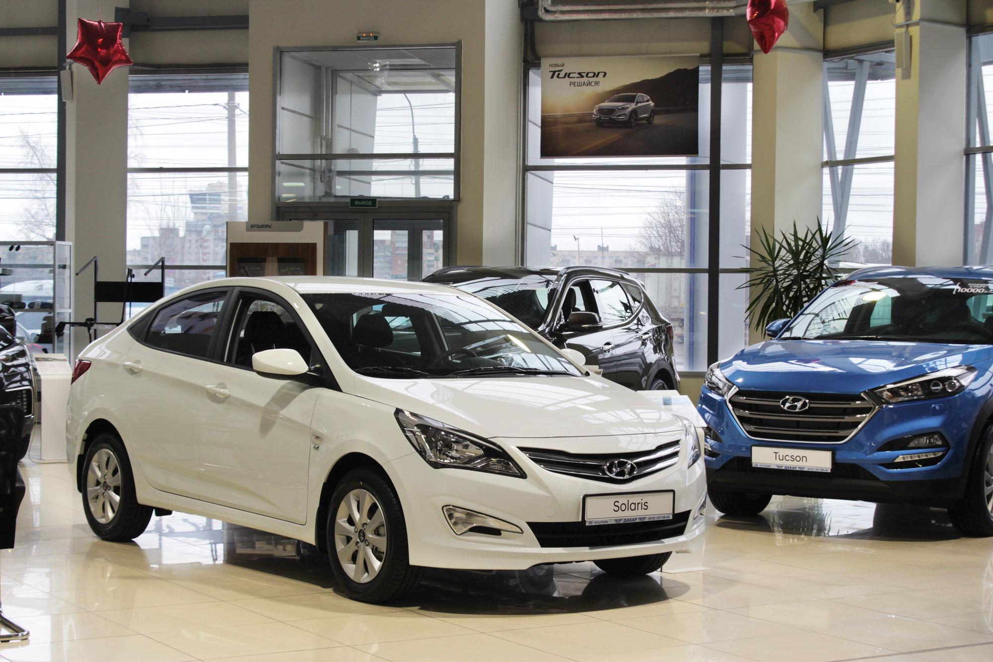 "Освещение автосалона ""Hyundai Дакар"""