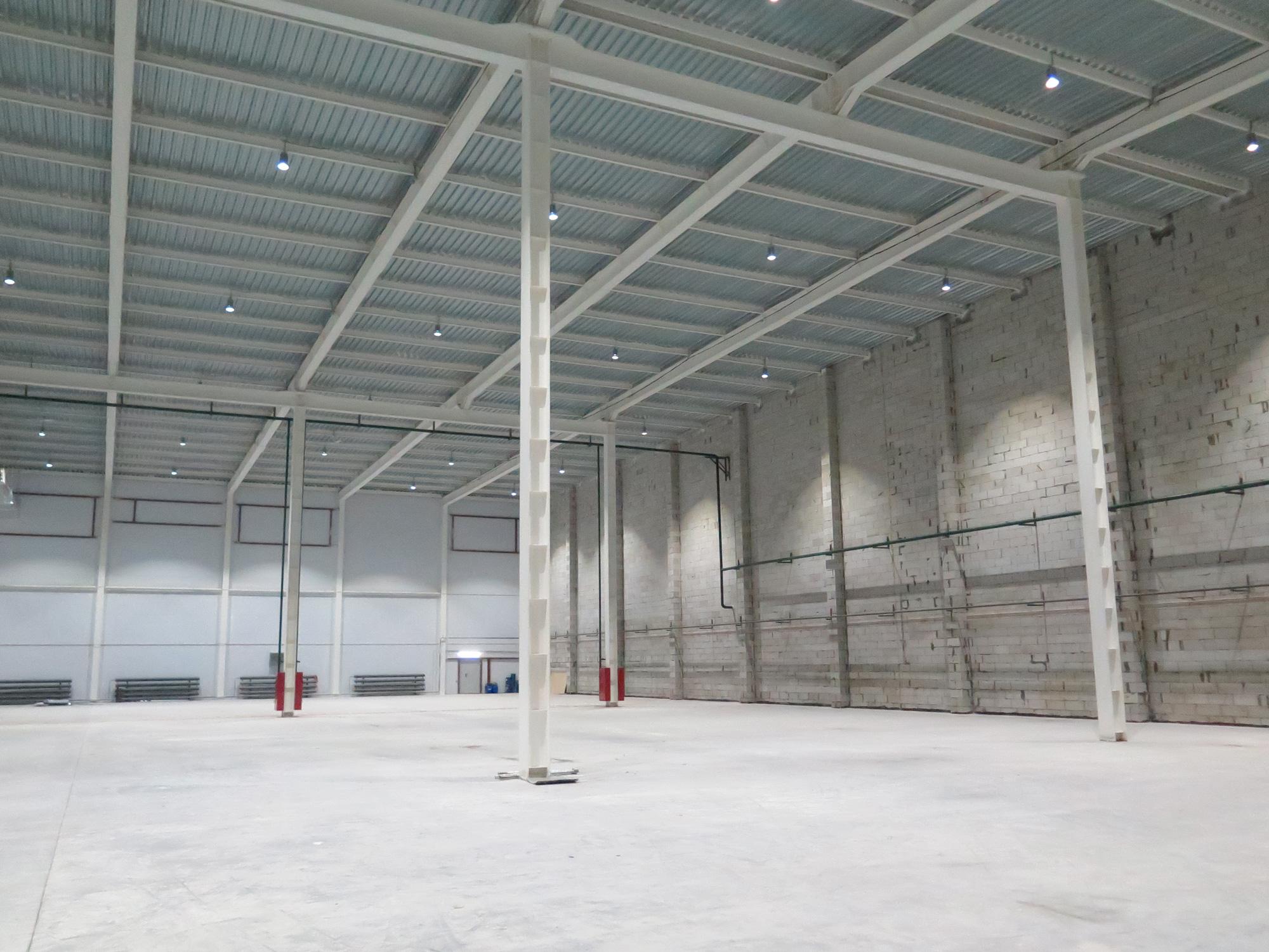 Освещение склада ООО «Тонап-Плюс»