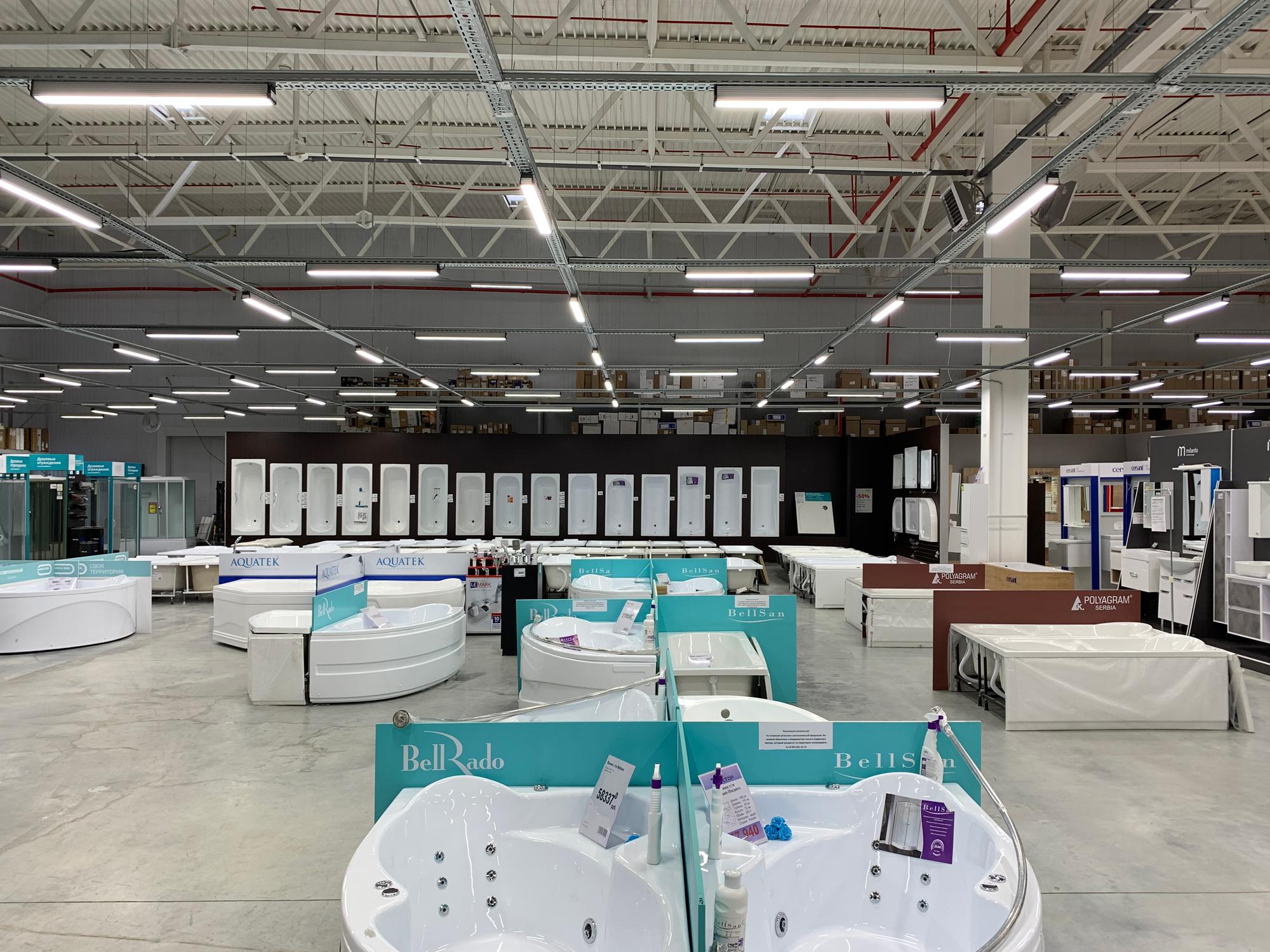 Реализованный проект освещения Магазина «Вектор» в ТЦ «Мега-Пенза»